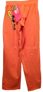 Primp Lounge Cropped Skateboard Athletic Pants cantaloupe orange