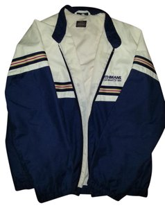 Mens Rothmans Mens white/blue W/blue, yellow, white, red stripes Jacket