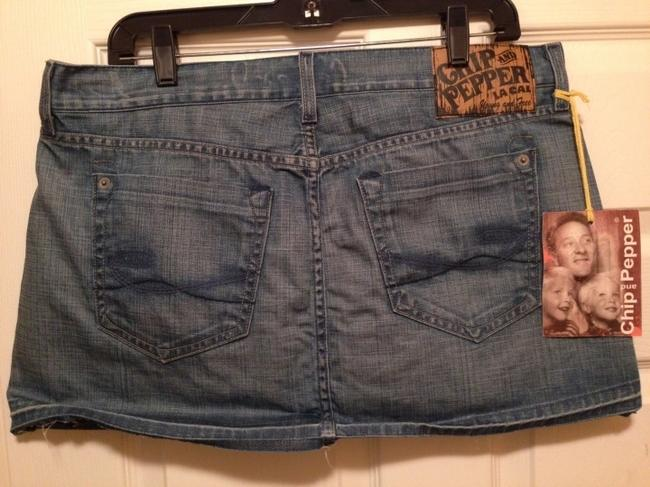 Chip and Pepper Distressed Denim Denim Jeans Mini Ultra Mini Mini Skirt