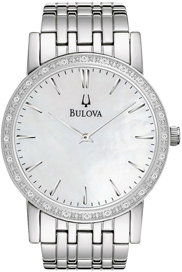 Bulova Bulova Men's 96E110 Silver Analog Watch with Mother-Of-Pearl Dial
