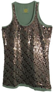 Double D Ranchwear Sequin Small Knit New Top Medium Sage Green
