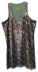 Double D Ranchwear Sequin Like New Small Knit Top Medium Sage Green