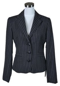 CAbi Black/White Stripe Blazer