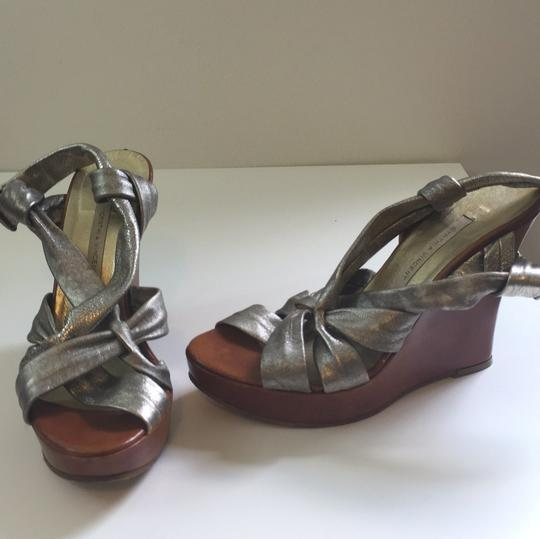 Twelfth St. by Cynthia Vincent Pewter Wedges