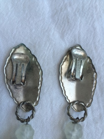 Other Metal with Clear Acrylic, Clip On Earrings