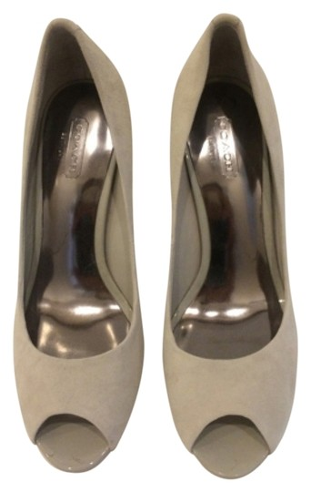 Coach Suede Classic Timeless Grey Pumps