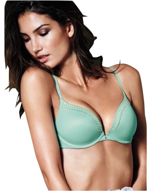 Victoria's Secret 34d Vs Very Sexy Very Sexy Push Push Up Push-up Embellished Holiday Spring Summer Blue Mint Green Rainbow Crystal Aqua Top Turqouise