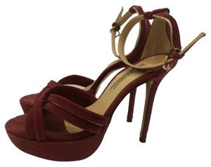 Charles David Suede Sexy Edgy Burgundy Platforms