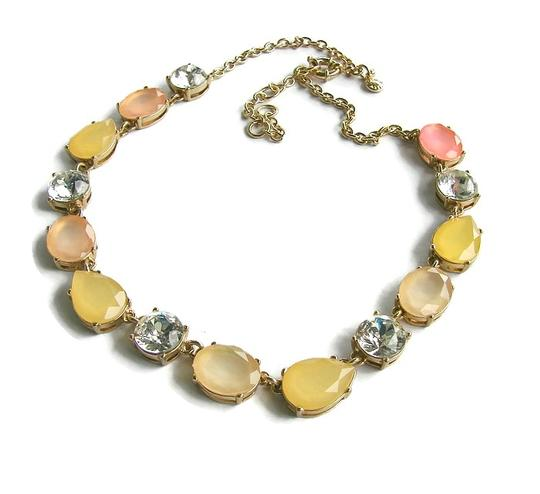 J.Crew J.Crew statement gold necklace with crystals.