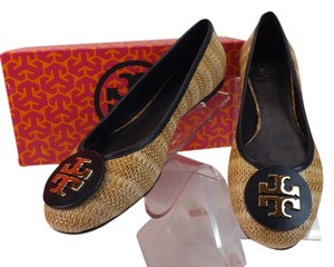 Tory Burch Navy/Natural Flats