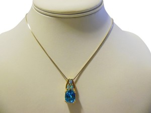 Technibond Technibond Simulated Opal and Paraiba Pendant with 18 Inch Chain