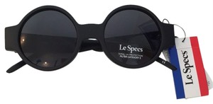 Le Specs Le Specs Rounded Black Sunglasses
