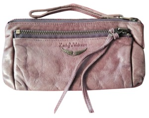 Zadig & Voltaire Zadig & Voltair violet leather clutch wristlet 100% calf leather!