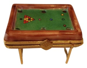 Limoges Authentic Limoge Snooker Table Keepsake Box