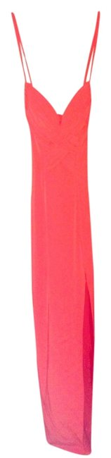 Item - Red Simple Chic Bold Floorlength Slit Sexy Long Night Out Dress Size 4 (S)
