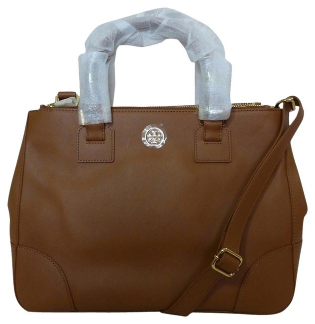 Item - Robinson Luggage Double-zip Brown Saffiano Leather Messenger Bag