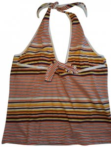 Dolce&Gabbana Stripes orange stripe/ multi Halter Top