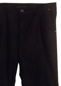 Banana Republic Dark Denim Size 30p Trouser/Wide Leg Jeans-Dark Rinse