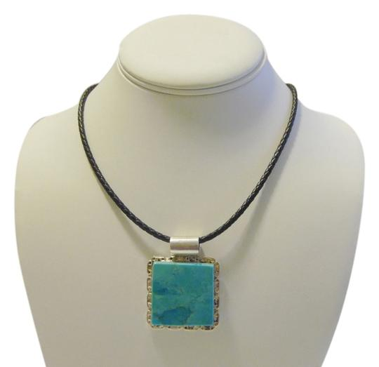 Preload https://item4.tradesy.com/images/mine-finds-by-jay-king-925-sterling-silver-square-design-turquoise-enhancer-with-leather-cord-neckla-4174423-0-0.jpg?width=440&height=440