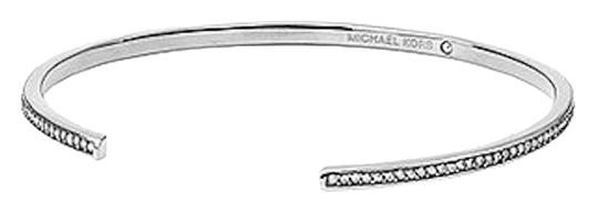 Michael Kors NEW WITH TAGS! Michael Kors Silvertone Clear Pave Thin Bar Open Cuff Bracelet Stack
