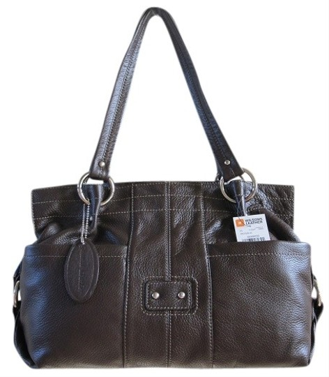 Wilsons Leather New Pebbled Satchel in Brown