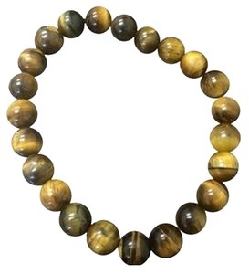 NEW 5mm Tiger Eye Beaded Bracelet Elastic Unisex
