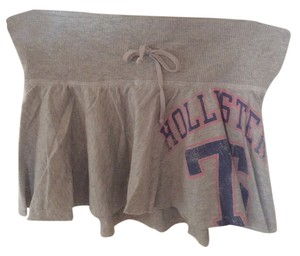 Hollister Comfortable Casual Mini Skirt Gray