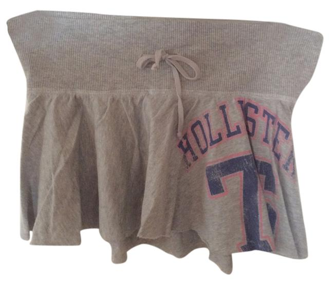 Hollister Comfortable Casual Cotton Mini Skirt Gray