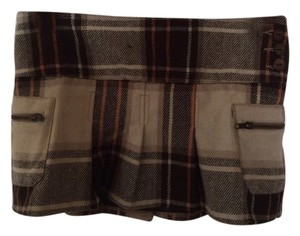Hollister Wool Comfortable Mini Skirt Plaid