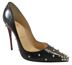 Christian Louboutin Degraspike Leather Black Pumps