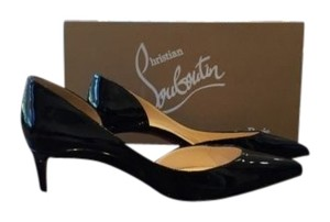 Christian Louboutin Classic Iriza 45mm Patent Heel Black Pumps
