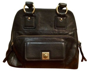 Banana Republic Leather Satchel in Black