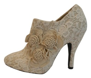 Mojo Moxy Dolce By Flora Lace Slim High Heels White Lace Boots