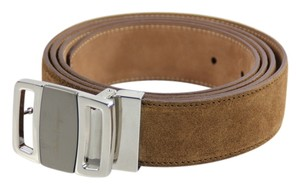 Salvatore Ferragamo Salvatore Ferragamo Suede Brown Belt - Size 46