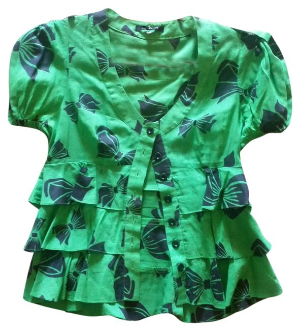 Nanette Lepore Top Green Multi