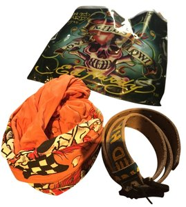 Ed Hardy Ed Hardy Scarf and Belt Package