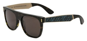 Super Super Classic Sinner RLI Brown Tint Tortoise Blue Temples Sunglasses