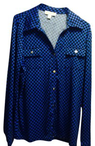 Michael Kors Button Down Shirt Blue