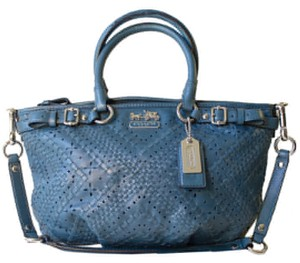 Coach Madison Laced Leather Criss Cross Rare Shoulder Bag