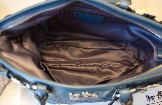 Coach Madison Laced Leather Criss Cross Rare Woven Shoulder Bag