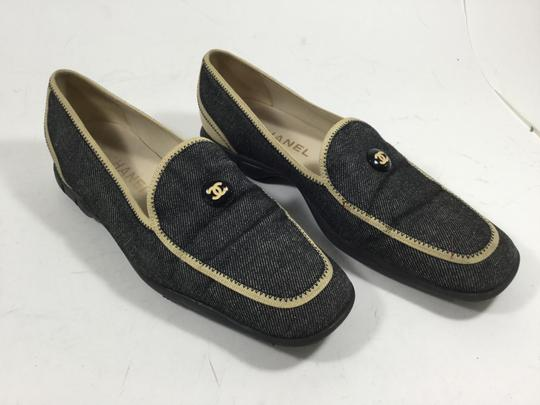 Chanel Loafer Denim Flats