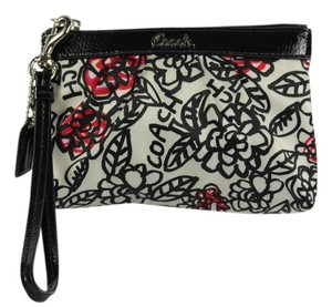 Coach Wristlet in White/Black