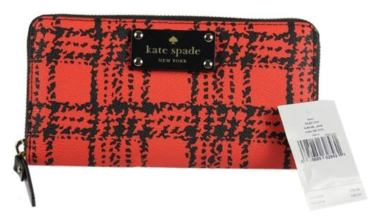 Kate Spade * Kate Spade Lacey Belleville Plaid Accordion Wallet - Red/Black