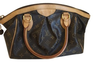 Louis Vuitton Purse Monogram Leather Tote in Brown