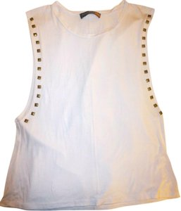 Ocean Drive Clothing Hardware Top White with gold