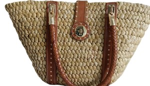 Michael Kors Tote in Brown leather / straw corn husk wicker