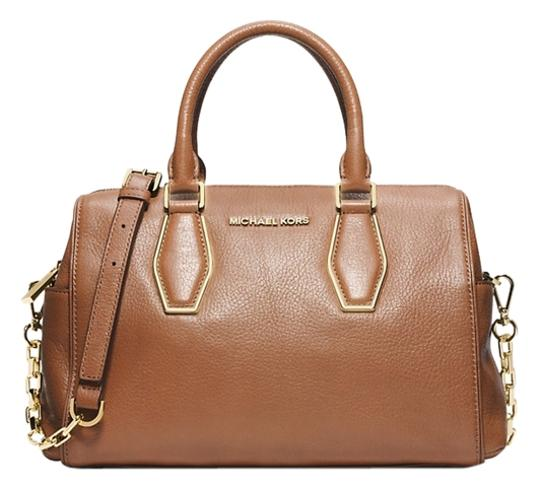 Michael Kors Next Day Shipping Satchel in Brown ( Luggage )