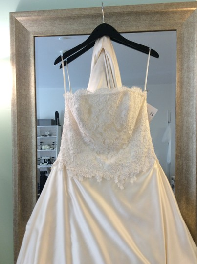 Jim Hjelm Ivory Jh8664 Wedding Dress Size 8 (M)