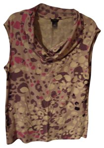 Ann Taylor Top Purple, Pink & Cream