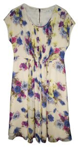 Boden short dress Floral Viscose Crepe Spring Purple on Tradesy